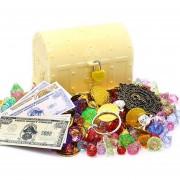 Cofre del tesoro pirata juguete - Amarillo L