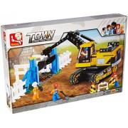 Sluban Traxcavator - 614 Pieces (Brand New in Original English Box) 100% Lego Compatible - Educational Toy - Building Bricks Construction Series M38-B0551
