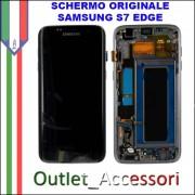 Display LCD Touch Samsung Galaxy S7 EDGE Originale SM-G935f G935 NERO Black Sapphire Schermo Completo GH97-18533A