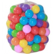 Urdhva Retail 100 Pieces Colorful Fun Balls Soft Plastic Ball Pit Ball Baby for Kids Tent Toy Swim Pool (5.5 cm Diameter)