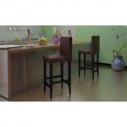 vidaXL Barové židle 4 ks, umělá kůže, hnědá