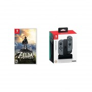 The Legend of Zelda: Breath of the Wild Nintendo Switch + PowerA Cargador Joy Con Switch