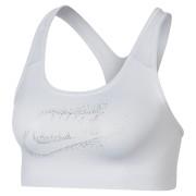 Brassière à maintien normal Nike Classic Swoosh Futura Sparkle pour Femme - Blanc