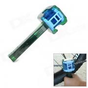 Conjunto de herramientas de maquina de limpieza de cadena de bicicleta multifuncion - Deep Green