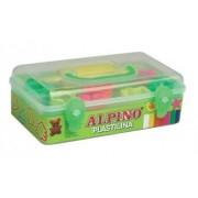 Kit plastilina cu forme modelaj 7 culori ALPINO