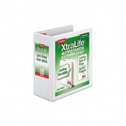 "Xtralife Clearvue Non-Stick Locking Slant-D Binder, 4"" Cap, 11 X 8 1/2, White"