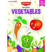 EduQuest - Jigsaw Puzzle - Vegetables - 2-4 years old - Set of 3 puzzles - 2,3,4 piece puzzles - Carrot (2 pieces), Tomato (3 pieces), Capsicum/Pepper (4 pieces)