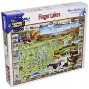 White Mountain Puzzles Finger Lakes Jigsaw Puzzle (1000 Piece)
