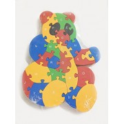 Educative Wooden Puzzles with Number and Alphabets. (Bear Puzzle)