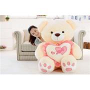 Peach 5 Feet Love Heart Teddy Bear