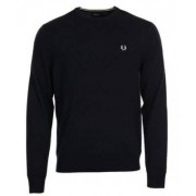 FRED PERRY Crew Neck Jumper Dark Carbon (XS)