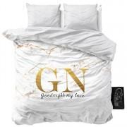 Sleeptime dekbedovertrek Marble Goodnight Gold-140x200/220