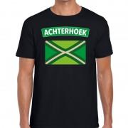 Bellatio Decorations Achterhoeks t-shirt met vlag bedrukking zwart voor heren