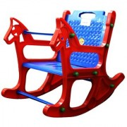 Abasr Baby Kids Multicolour Rocking Chair Plastic