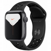 Часы Apple Watch Nike Series 5 GPS 40mm Aluminum Case with Black Sport Band MX3T2 (Серый космос/черный)
