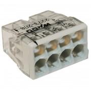 Set 10 conectori cu fixare prin impingere 8 conductoare 2,5mm2 24A Wago 2273-208