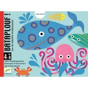 DJECO Gra karciana Bataplouf ze zwierzątkami morskimi, zabawy w wodzie DJ05156