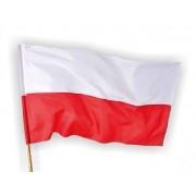 Flaga Polski 112x70 cm - z drzewcem 1,5 mb