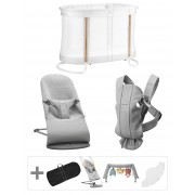 BABYBJÖRN Pack Premium pour nouveau-nés - Gris clair, 3D Jersey