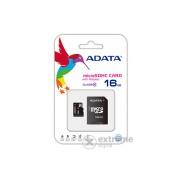Card de memorie Adata microSDHC 16GB CLASS 4 + adaptor SDHC