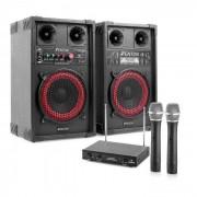 "Electronic-Star Sistema de karaoke ""STAR-Mitte"" Altavoces PA 400W Set de micrófonos inalámbricos VHF de 2 canales (PL-6521-2233)"