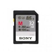 32GB SDHC Sony SF-M SF32M UHS-II, Class10, скорост на четене 260MB/sec, скорост на запис 100MB/sec