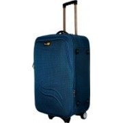 Skyline Expandable Polyester Check-In Soft Case Trolley Bag/Suitcase With Number Lock,2 Wheels Expandable Cabin Luggage - 22 inch(Blue)