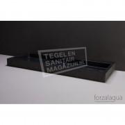 Forzalaqua Palermo Wastafel 120 cm Basalt Gebrand 120,5x51,5x9 cm 1 wasbak zonder kraangaten