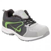 AeroFax Men's Light Gray P Green lace up sport Shoes