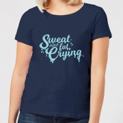 The Fitness Collection Sweat Is Just Fat Crying Women's T-Shirt - Navy - M - Navy