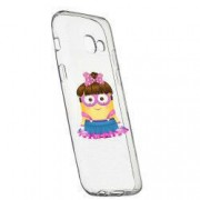 Husa de protectie Minion Girl Samsung Galaxy J4 Plus 2018 rez. la uzura anti-alunecare Silicon 208