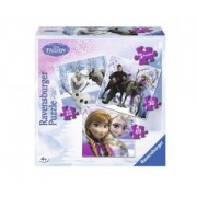 Детски пъзел 3 в 1 - Замръзналото кралство - Ravensburger, 706715