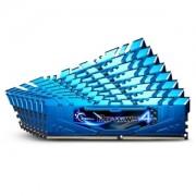 Memorie G.Skill Ripjaws 4 Blue 64GB (8x8GB) DDR4 2666MHz CL16 1.2V Intel X99 Ready XMP 2.0 Quad Channel Octo Kit, F4-2666C16Q2-64GRB