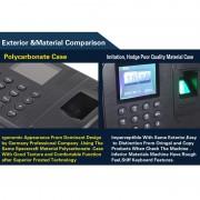 A9-TB 2,8 pouces Couleur TFT Screen Fingerprint & RFID Temps Présence, Horloge de présence de bureau de communication USB Horloge