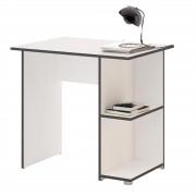 CARO-Möbel Schreibtisch KUBA in weiß/grau mit 2 Ablageflächen