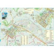 Harta Municipiului Onesti BC (print digital) - sipci de lemn