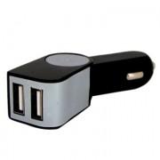 Cargador USB Dual para auto, negro/verde genérico 409764