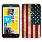 Husa Nokia Lumia 625 Silicon Gel Tpu Model USA Flag