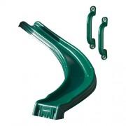 Swing-N-Slide Side Winder Slide with Safety Handles, Green