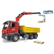 Bruder mercedes benz arocs camion con rimorchio e braccio meccanico 03651