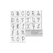 Carimbo Alfabeto Maiusculo - Letra Cursiva - 052