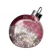 Ornament decorative light, dark red 25 cm diameter