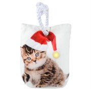 Decoratiune Craciun opritor de usa pisicuta cu led