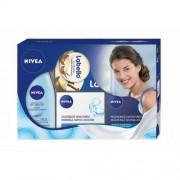 Nivea Face Blue Kit 50ml Moisturizing Day Care + 50ml Regenerating Night Care + 125ml Gentle Eye Make-Up Remover + 19ml Labello Lip Butter Vanilla & Macadamia For Normal to Combination Skin 244ml Per Donna (Cosmetic)