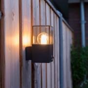 QAZQA Exterior wall light dark gray with motion detector IP44 - Denmark