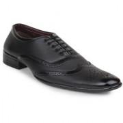 00RA Men's Black Colour Brogue Office Wear Formal Shoes For Men Oxford Style