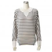 リーボック ストライプパイルクルーシャツ【QVC】40代・50代レディースファッション