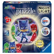 Puzzle 3D luminos - Eroi in pijamale