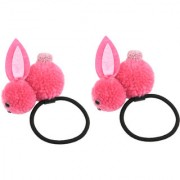 Iconic Rabbit hair bands for baby girls (set of 2) Pink