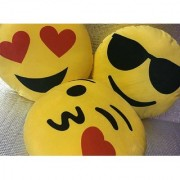 Krishan Enterprises Toys cool smiley pillow yellow-30 cm